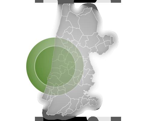 werkgebied Noord-Holland