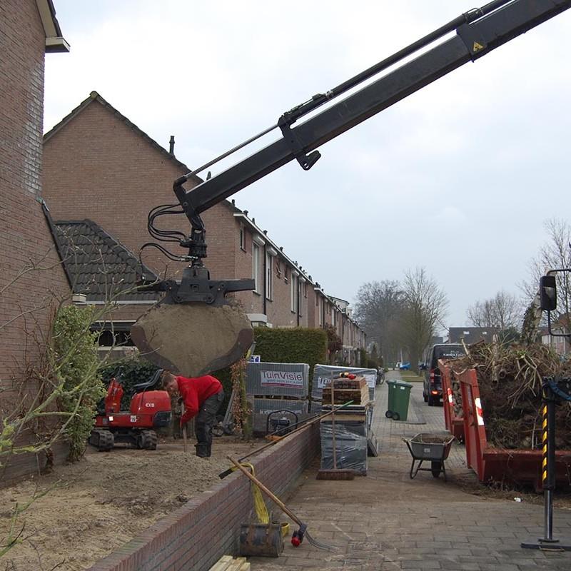 Aanleg tuin en bouw van schutting in Hengelo - 15 van 35