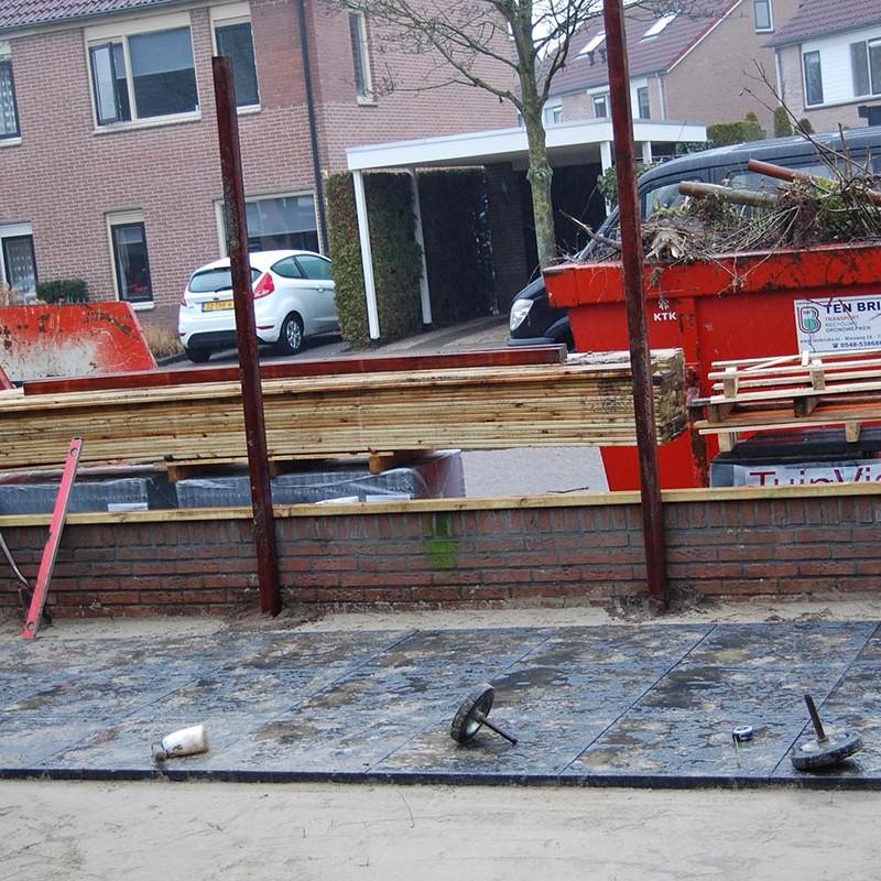 Aanleg tuin en bouw van schutting in Hengelo - 20 van 35