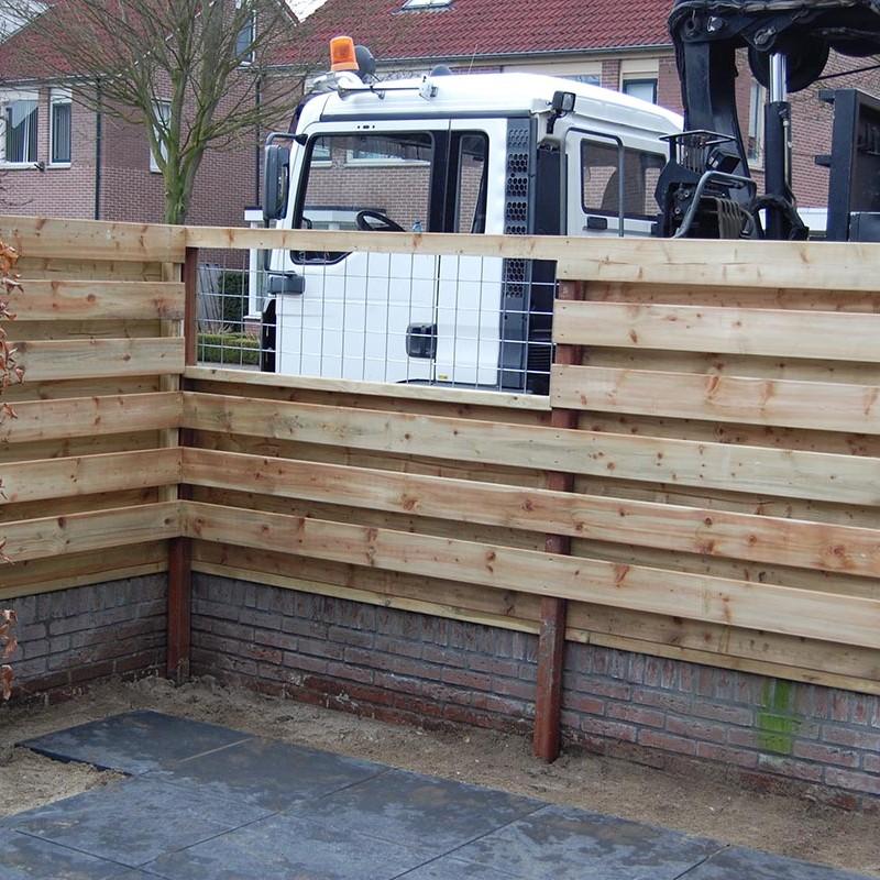 Aanleg tuin en bouw van schutting in Hengelo - 21 van 35