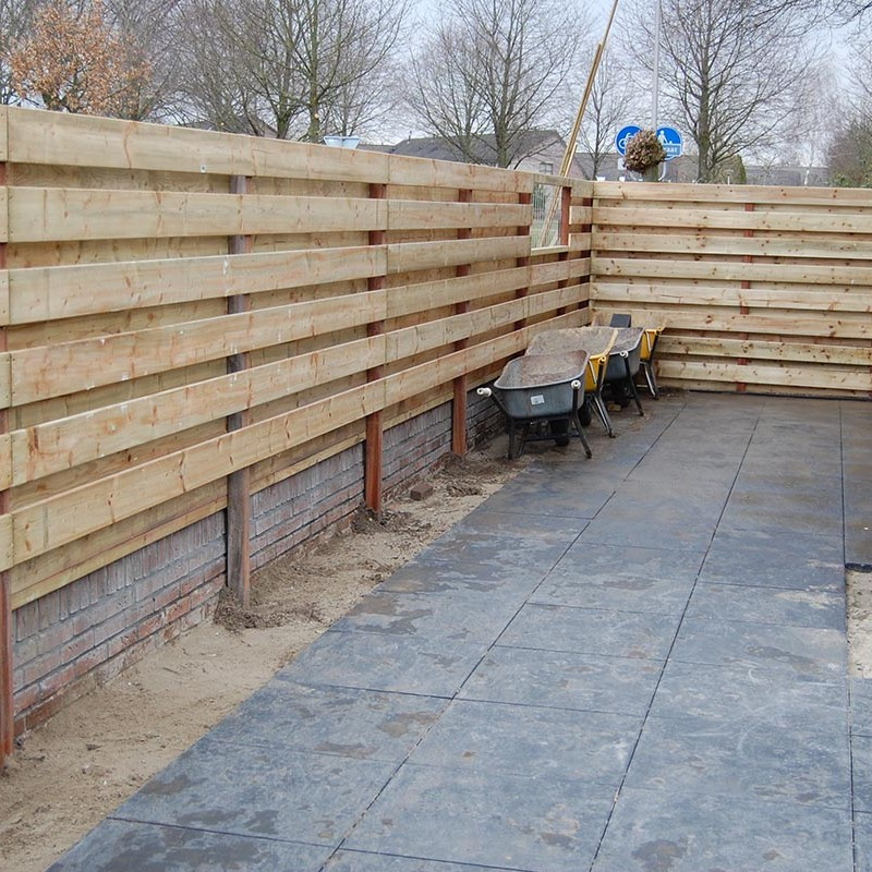 Aanleg tuin en bouw van schutting in Hengelo - 22 van 35