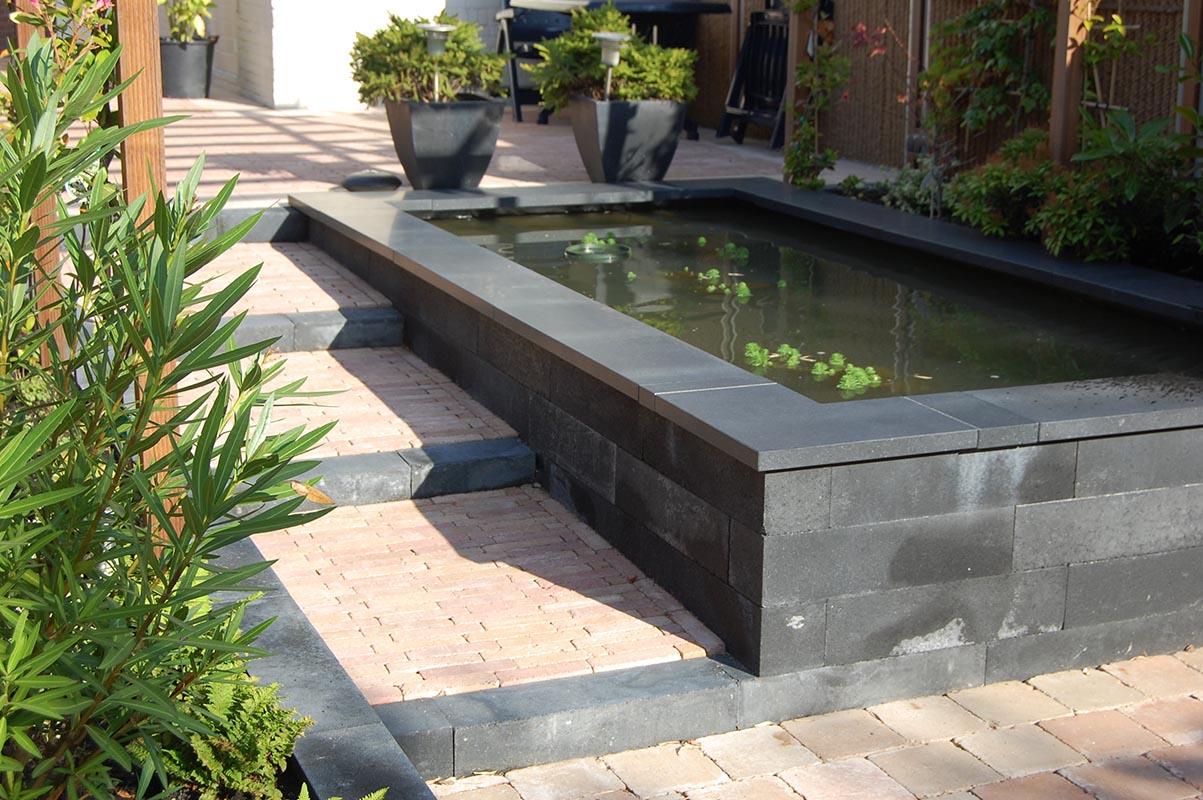 Strakke tuin met koivijver garden desiggarden desig - Tuin met openlucht design ...