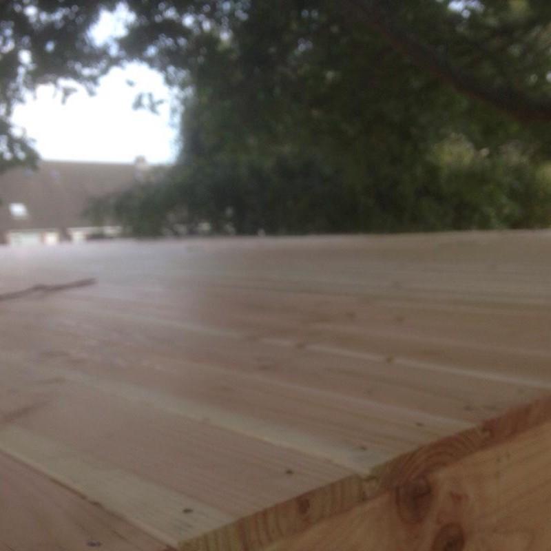Douglas houten overkapping met hardhouten vlonder - 1 van 10