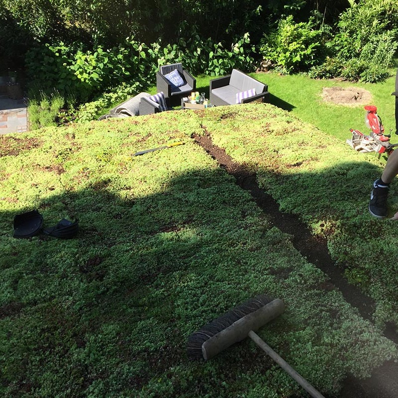 Natuurlijke overkapping van Kastanjehout en Douglas hout  - 17 van 37