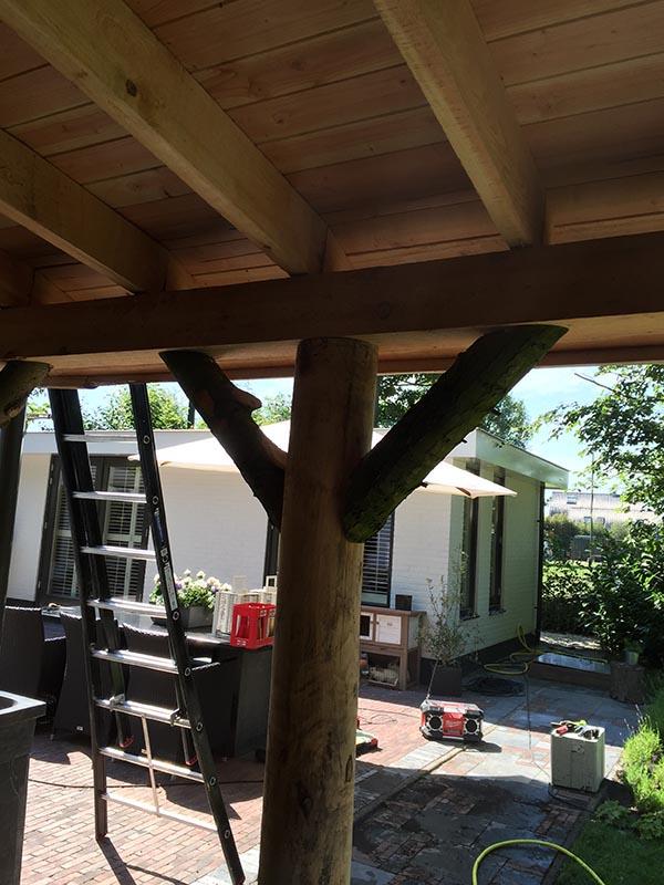 Natuurlijke overkapping van Kastanjehout en Douglas hout  - 21 van 37