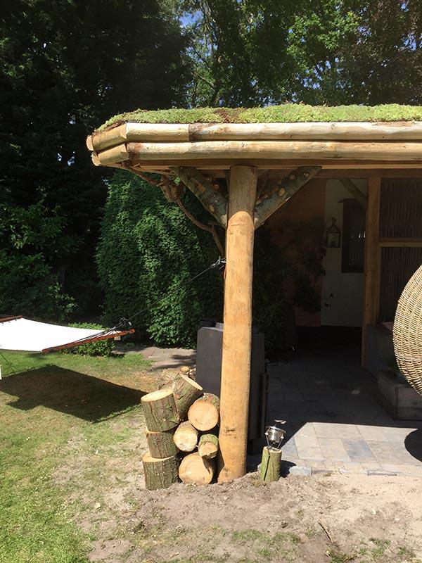 Natuurlijke overkapping van Kastanjehout en Douglas hout  - 26 van 37