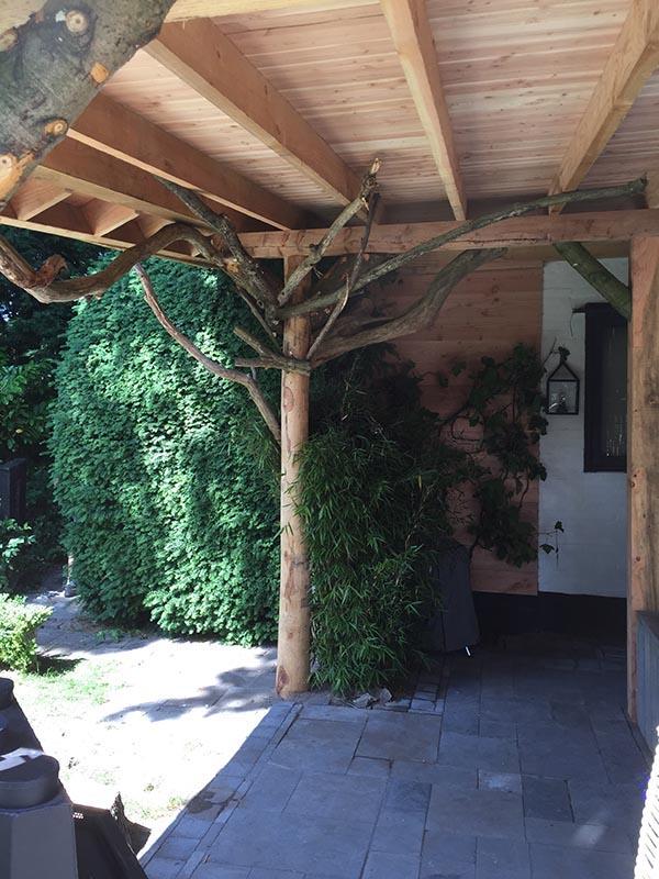 Natuurlijke overkapping van Kastanjehout en Douglas hout  - 28 van 37