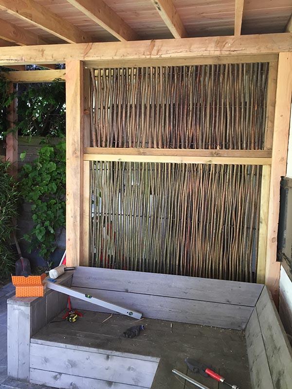 Natuurlijke overkapping van Kastanjehout en Douglas hout  - 9 van 37