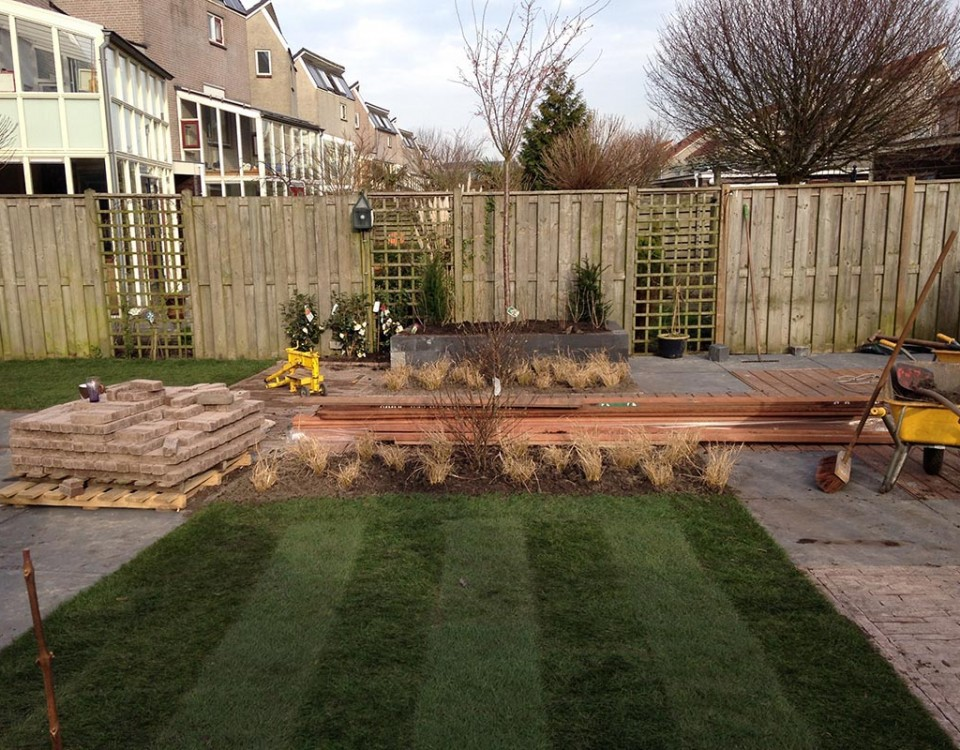 aanleg van tuin in stappen